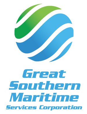 """global maritime service at international standards with the green color signifying health, safety and the environment while the blue colors indicating confidence, reliability and responsibility""."